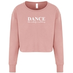 Ladies Dance Like Nobody's Watching Cropped Jumper