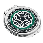 Personalised Engraved Celt Knot Compact Mirror