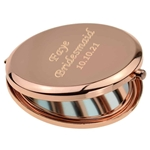 Personalised Rose Gold Round Compact Mirror