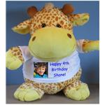 Personalised Giant Giraffe Cuddly Toy