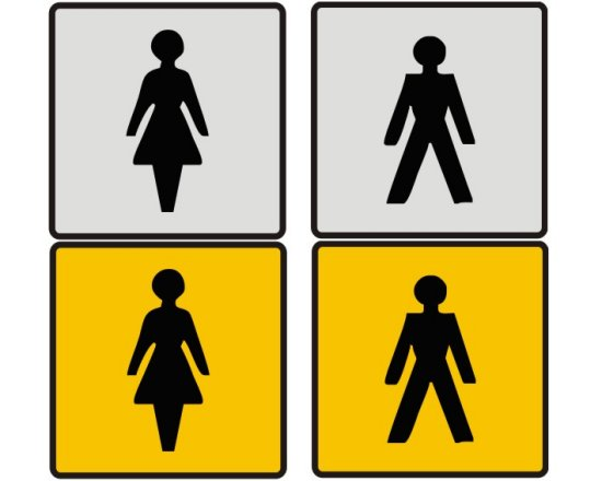 Male And Female Toilet Door Sign
