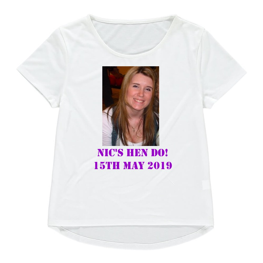 Personalised Photo Womens Fitted T-Shirt