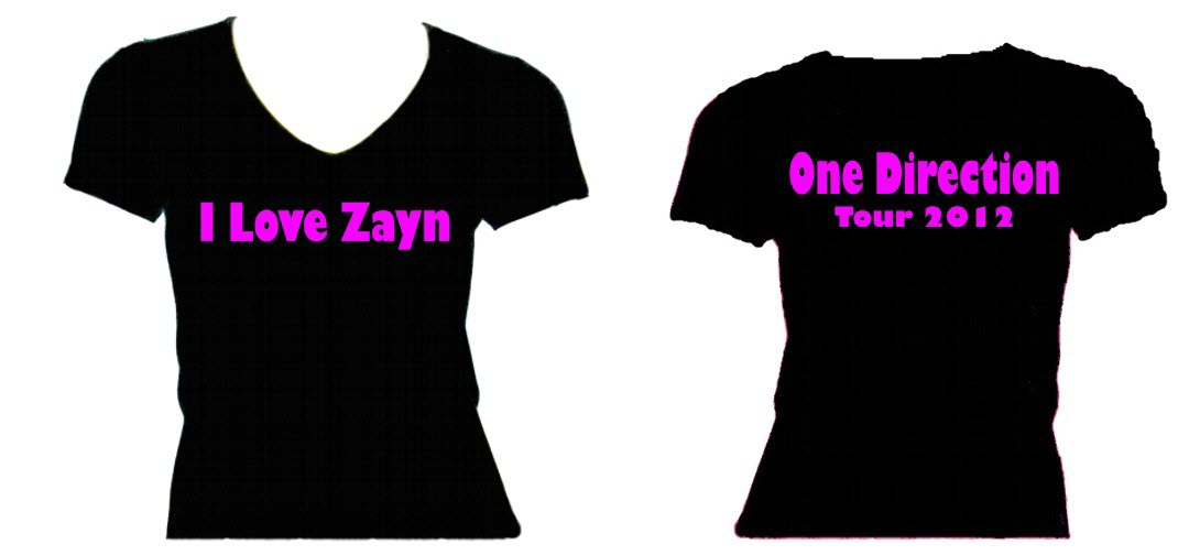 Zayn Malik One Direction Tour T-shirts 2012/13