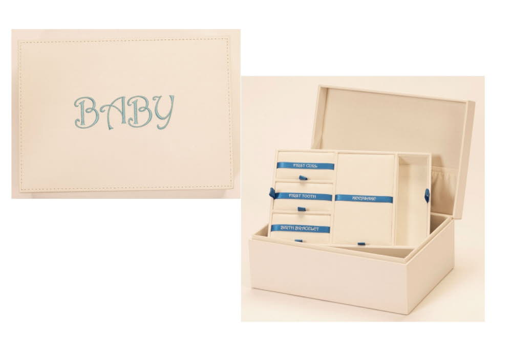 Personalised Baby Boy Keepsake Box