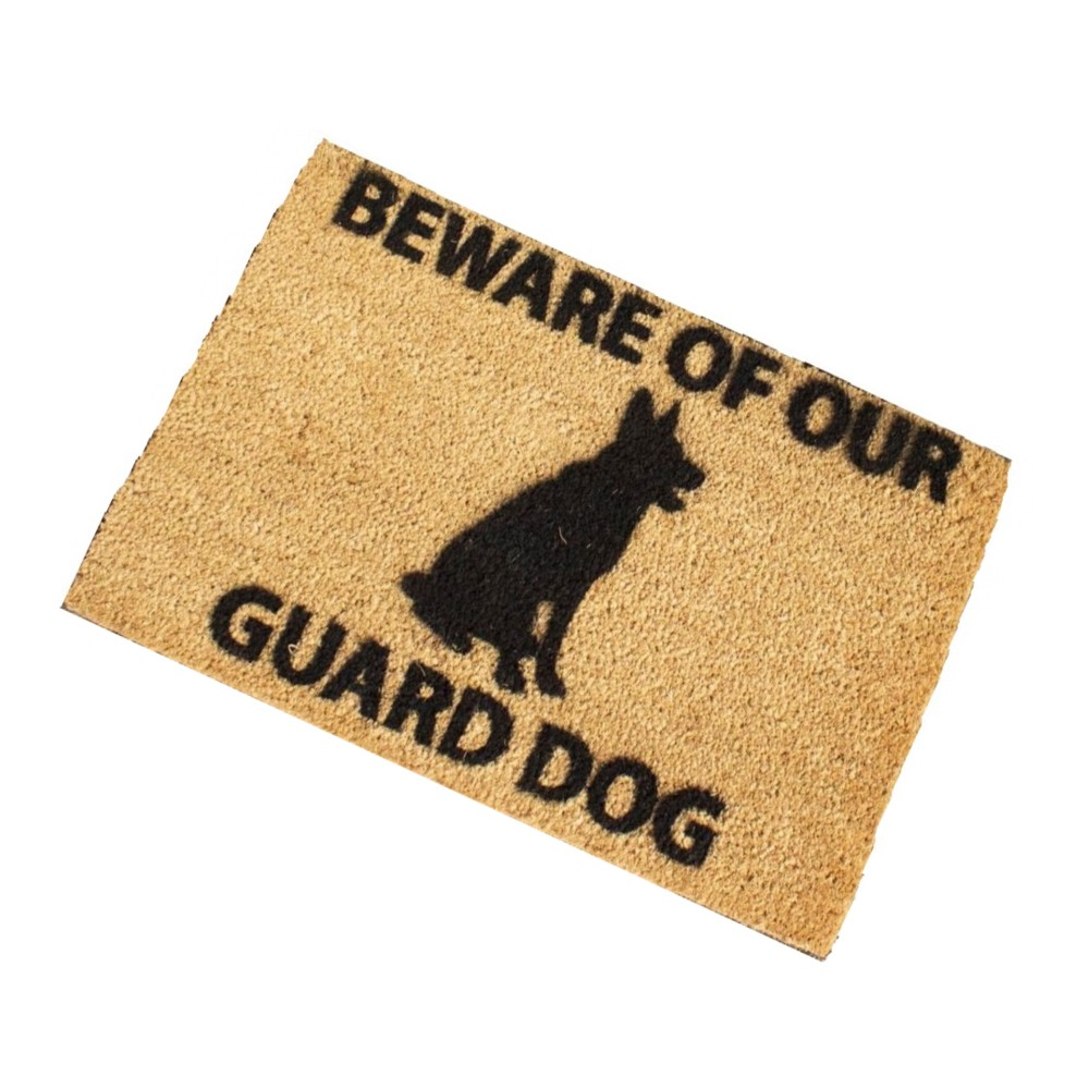 Beware Of Our Guard Dog Doormat