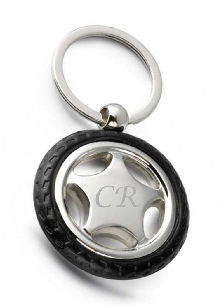 Engraved Car Motorsport Tyre Keyring