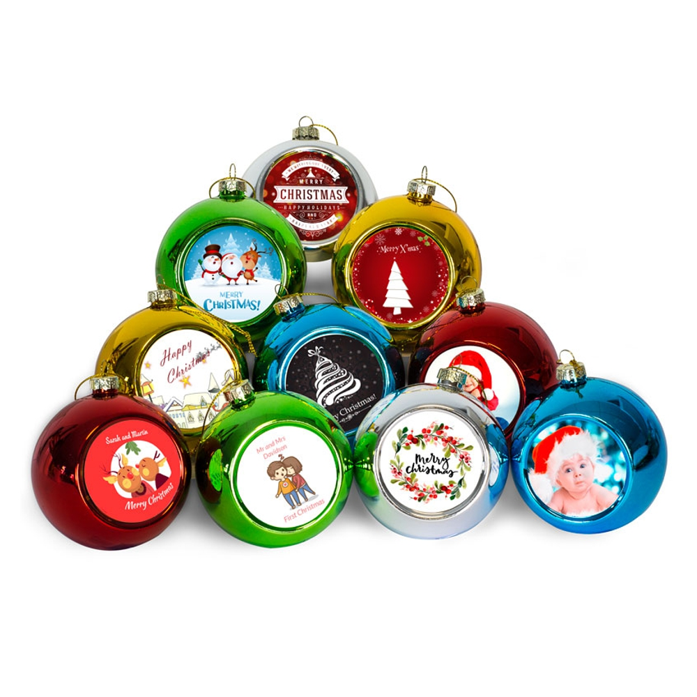 Personalised Christmas Glass Bauble Decorations