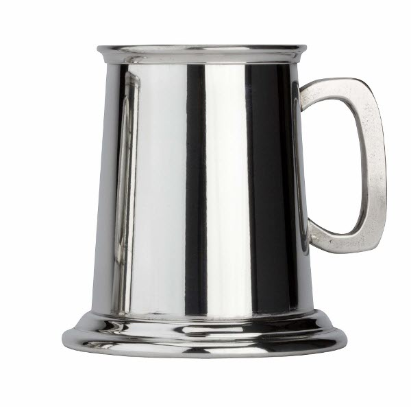 Engraved 1 Pint Standard Friary Pewter Tankard