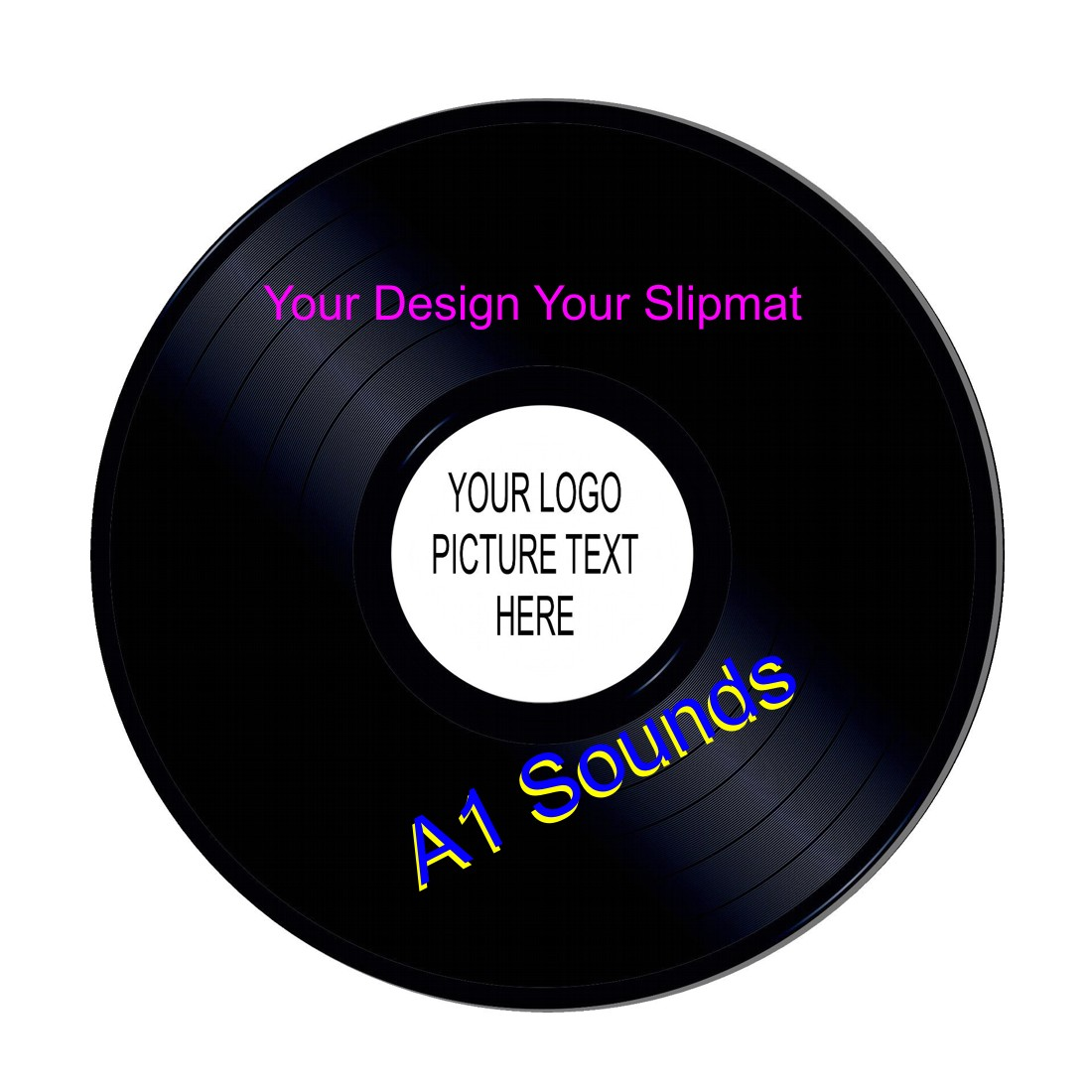 Personalised Full Colour Photo Pair of DJ Slipmats