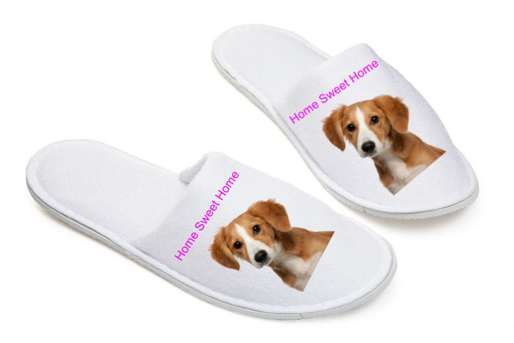 Personalised White Slippers