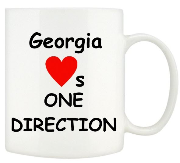 I Love One Direction Mugs Personalised