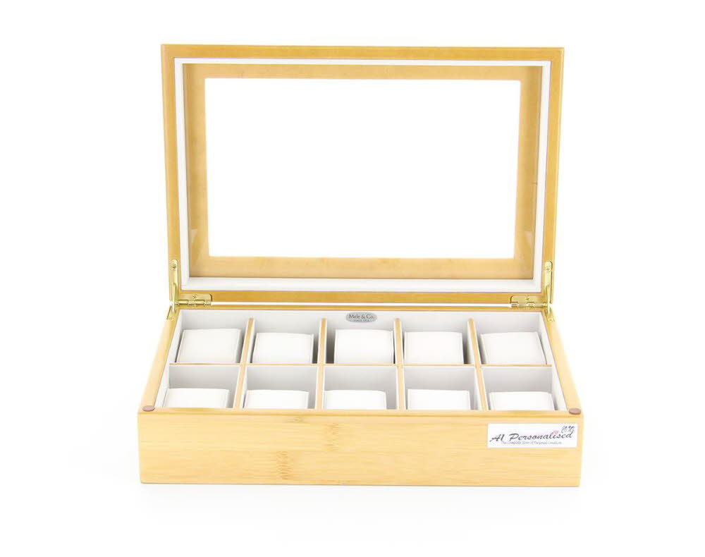 Personalised Beech Wooden Watch Box