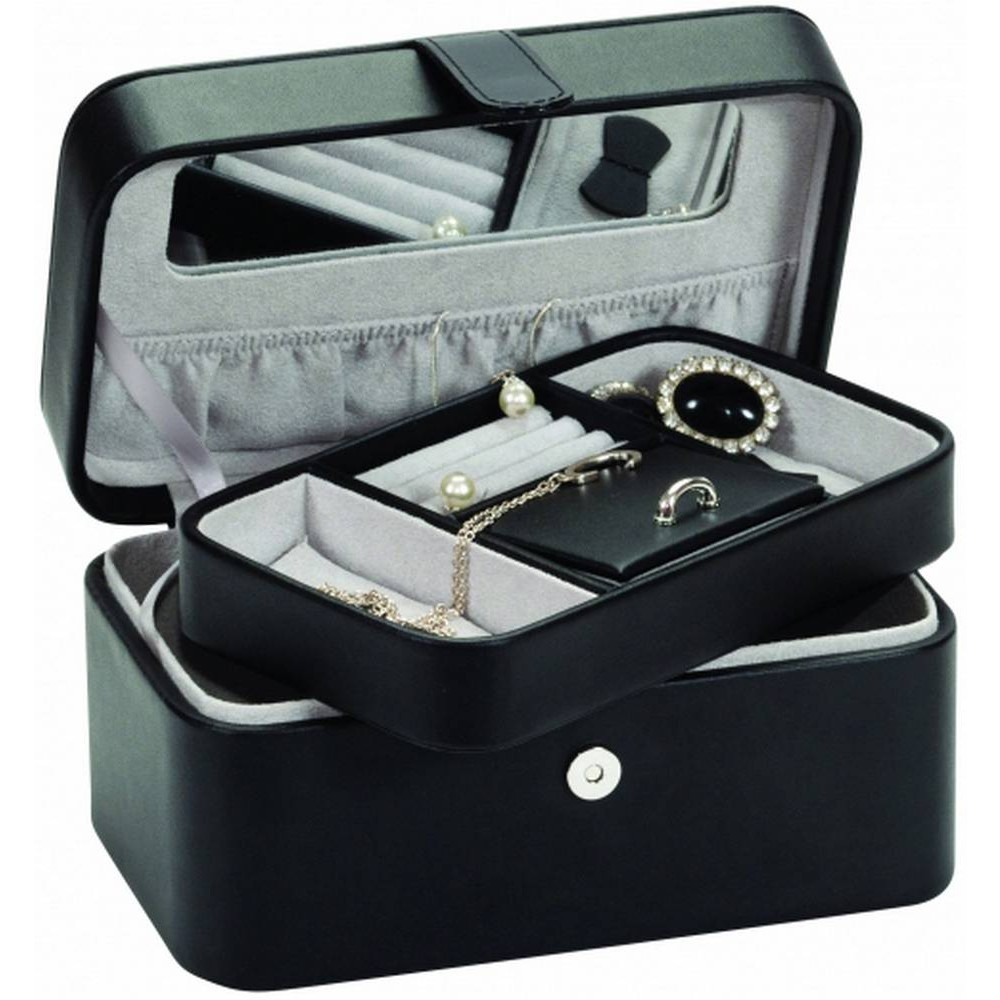 Personalised Bonded Leather Anastasia Jewellery Case