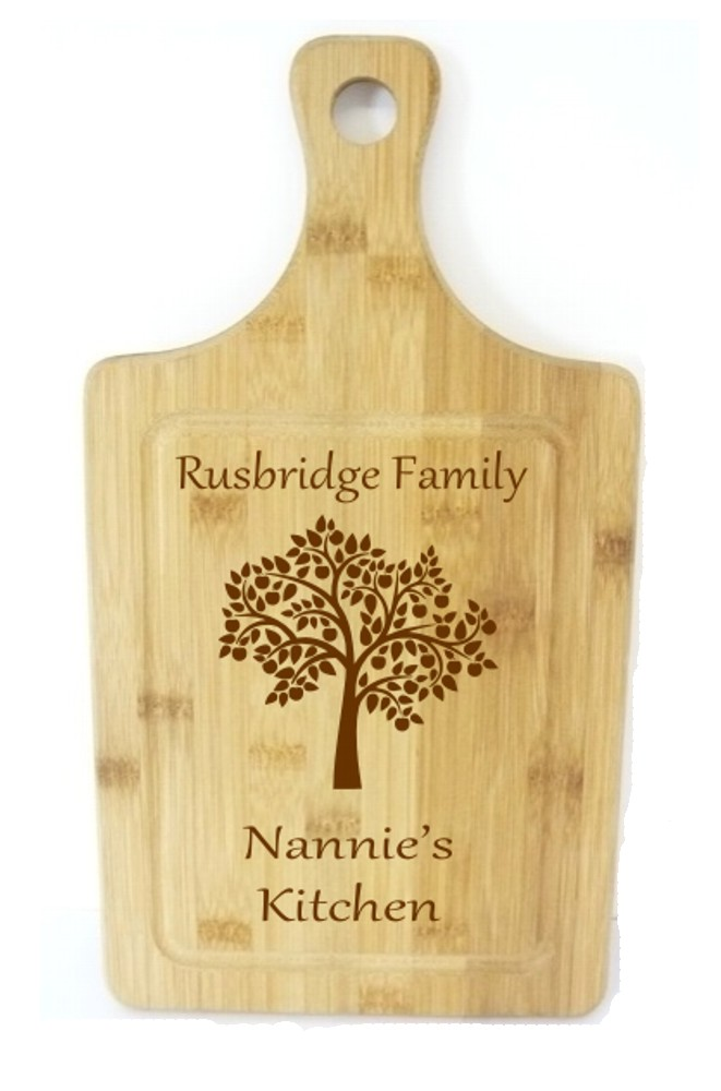 Engraved Bamboo Wooden Rectangle Chopping Board