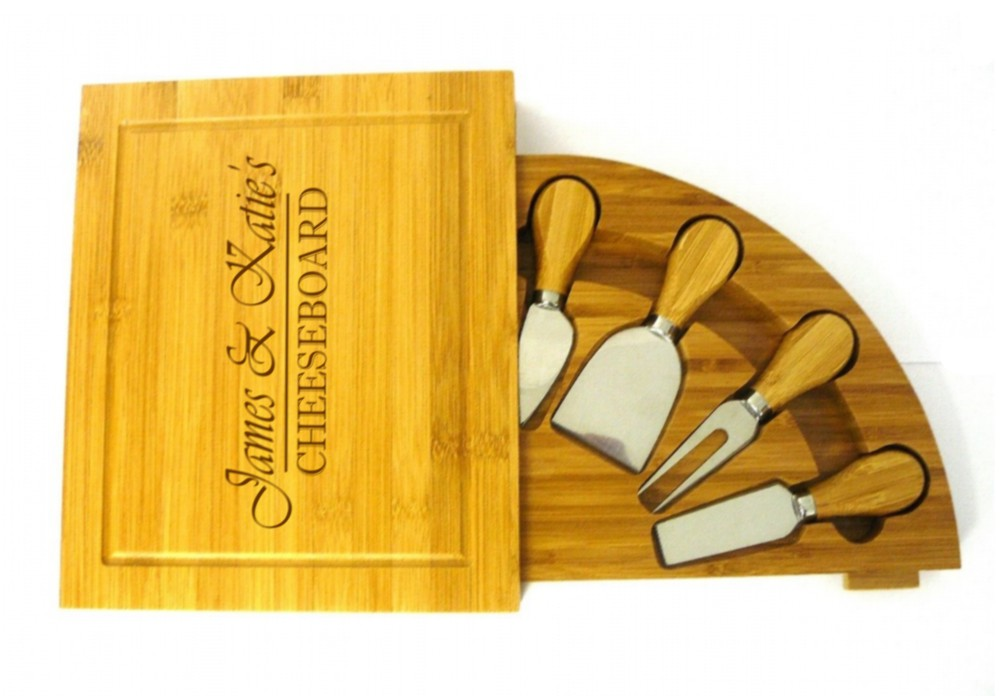 Engraved Bamboo Wooden Cheeseboard