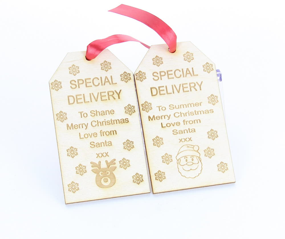 Personalised Wooden Christmas Santa Gift Tags