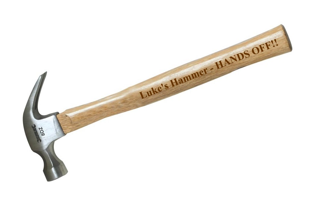 Engraved Personalised Claw Hammer