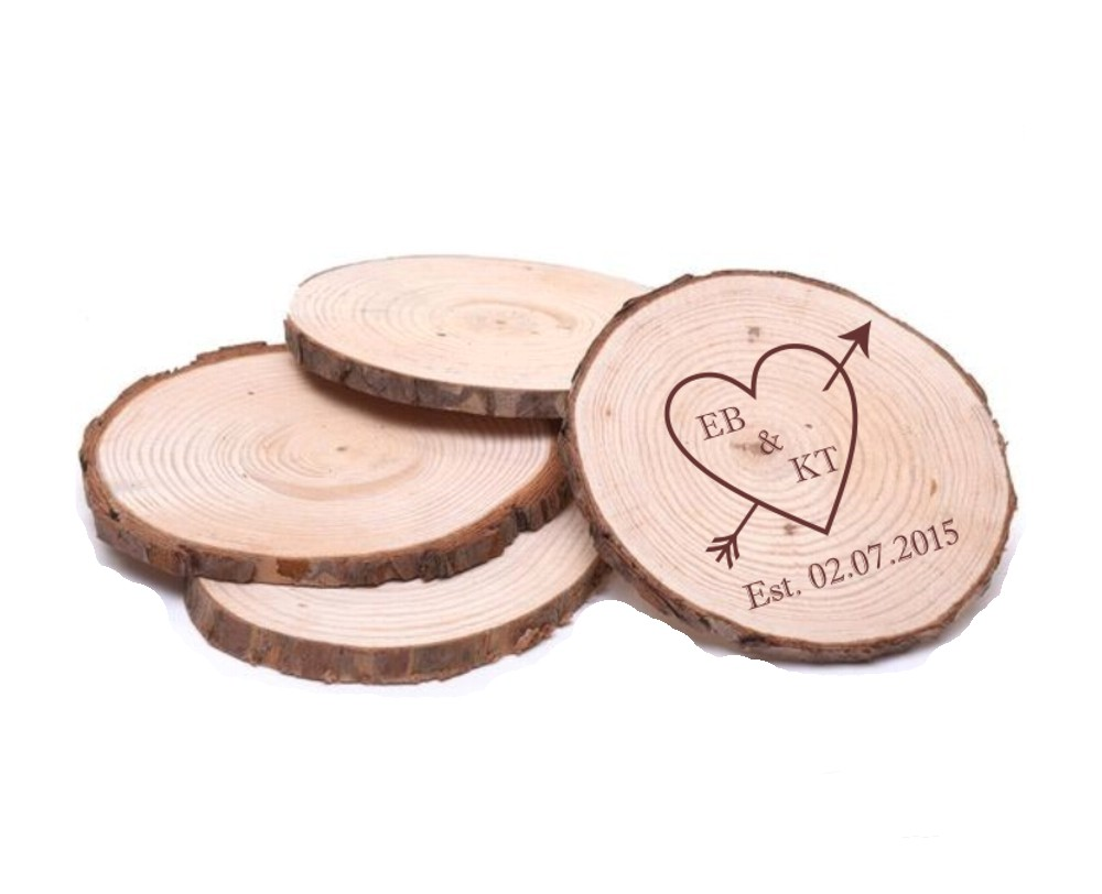 Engraved Wooden Round Coasters