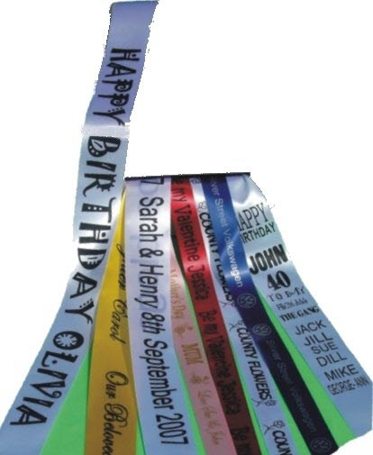 Wedding Ribbons, Banners & Sashes