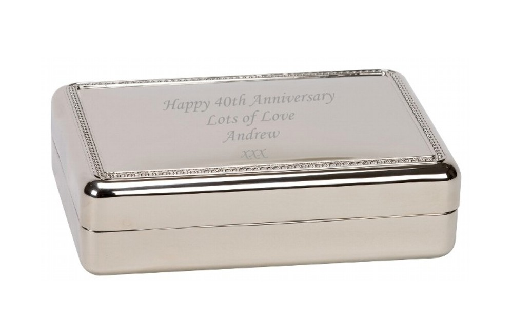 Engraved Winchester Trinket Jewellery Box