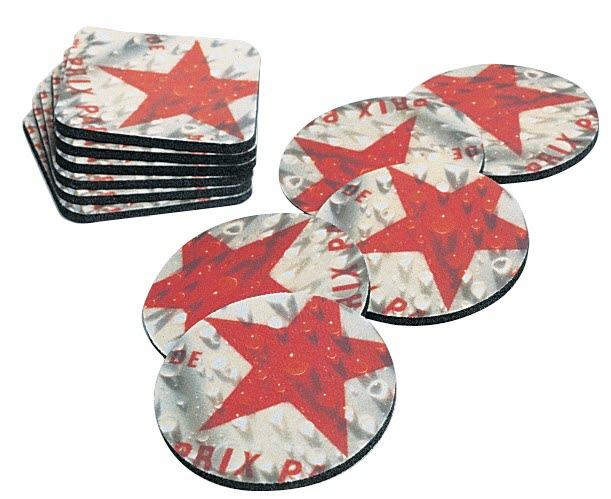 Personalised Round Beer Mats/Coasters