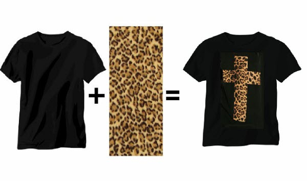 Leopard Cross Printed T-shirts