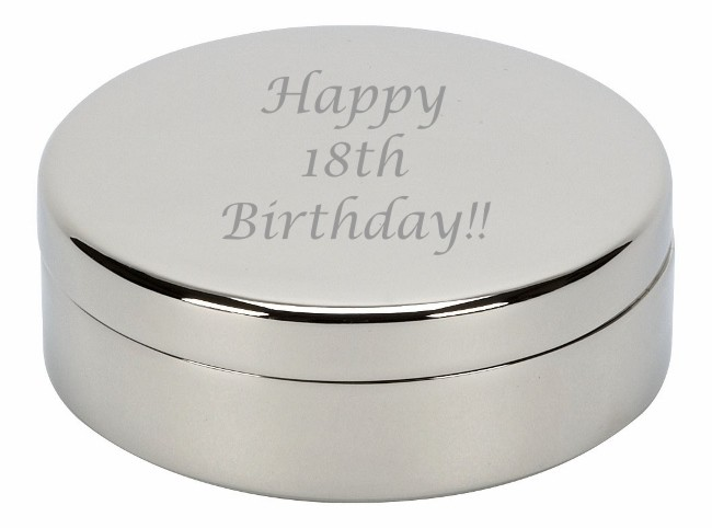 Engraved Round Trinket Box