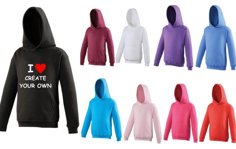 Create Your Own I Love Hoodies