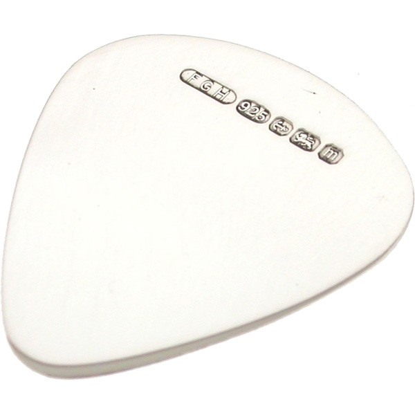 Engraved Sterling Silver Guitar Plectrum Pick