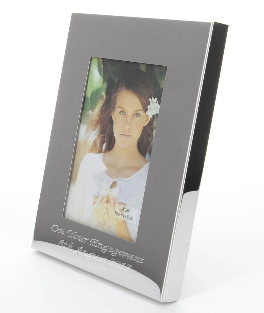Engraved Silver Chunky Photo Frame