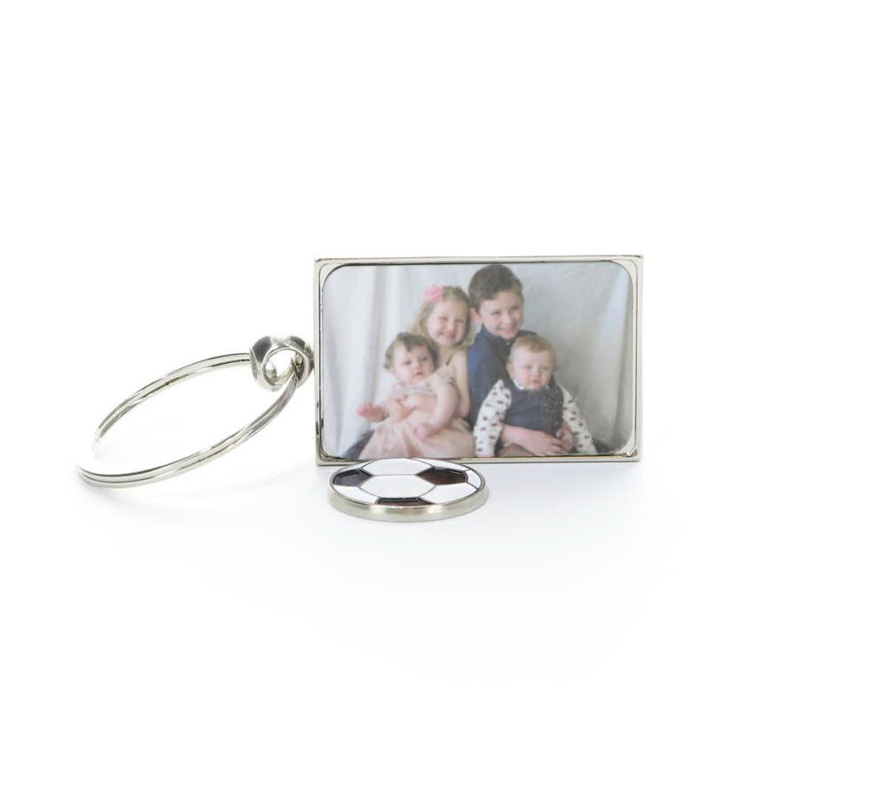 Personalised Full Colour Trolley Coin Keyring