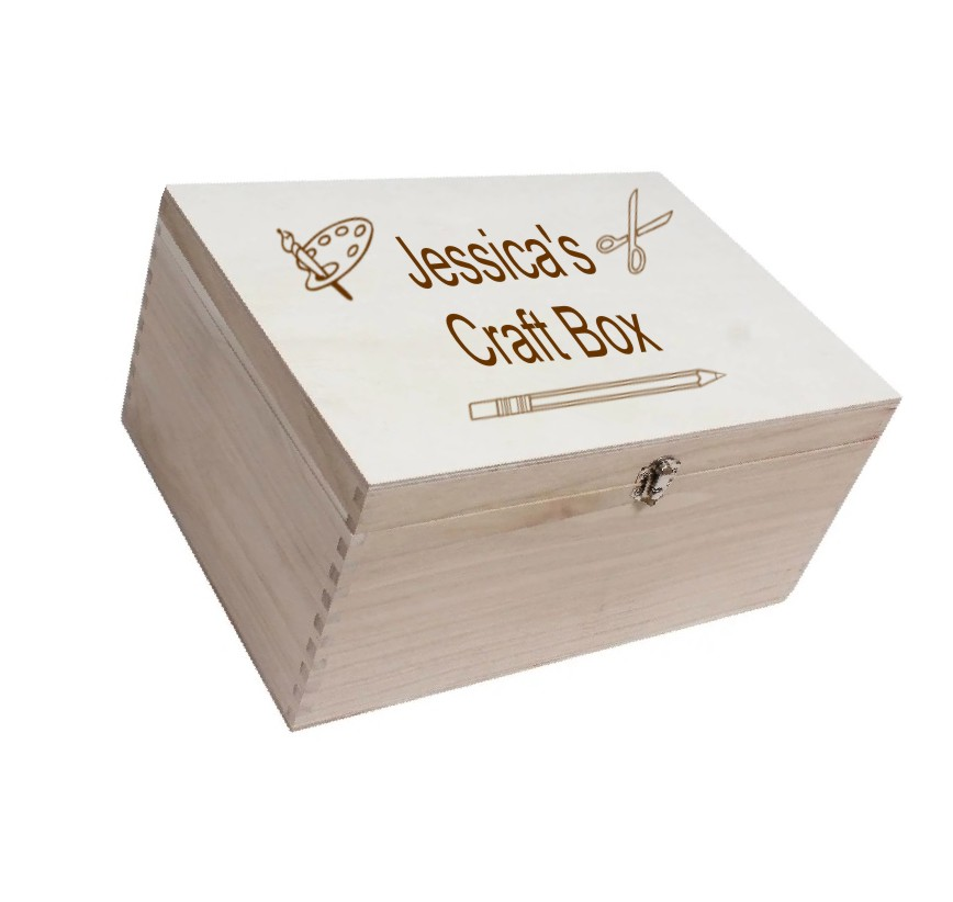 Personalised Wooden Craft/Art Box