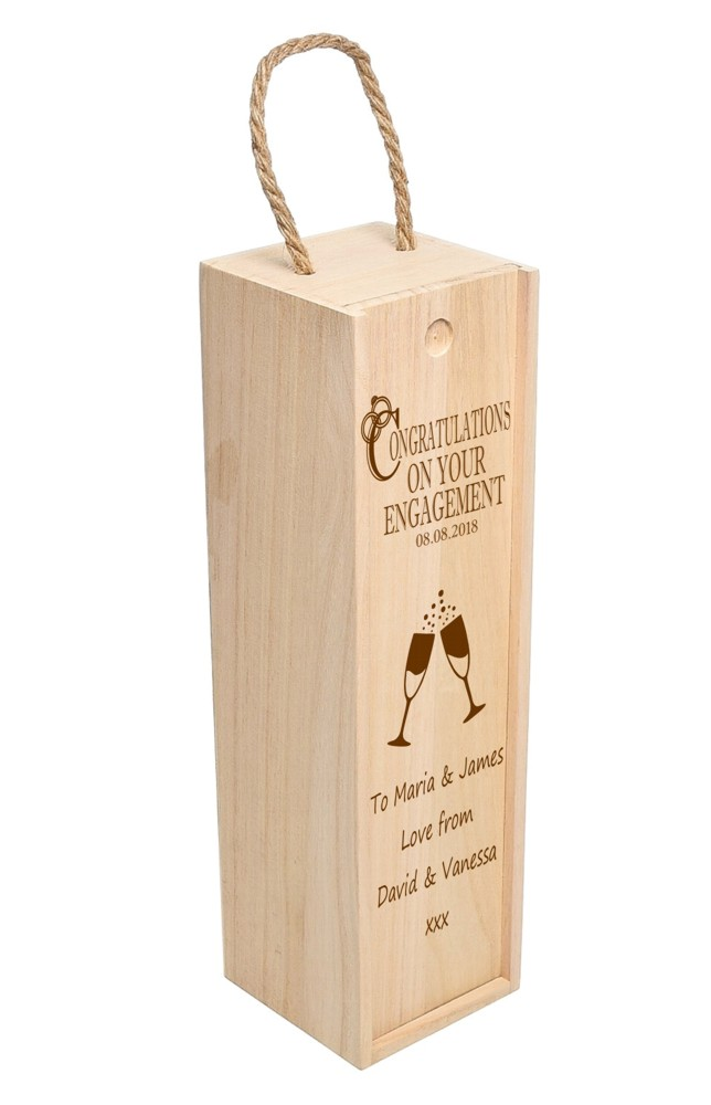 Personalised Congratulations Wooden Wine Box