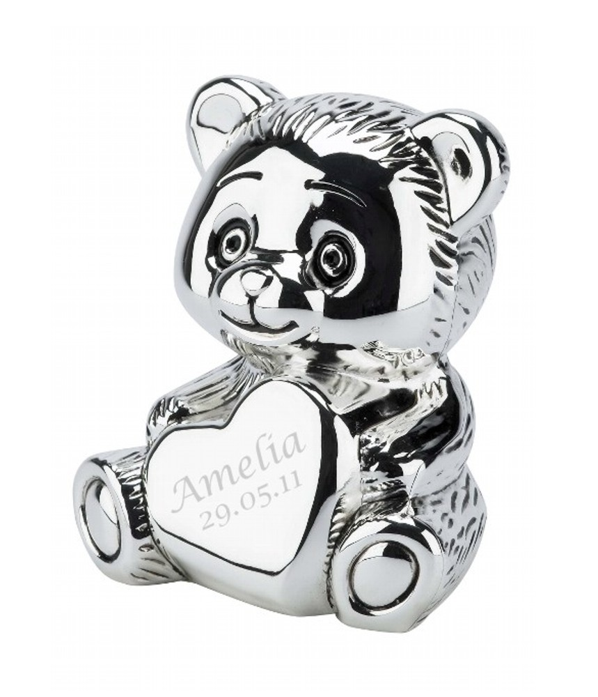 Engraved Teddy Bear Money Box