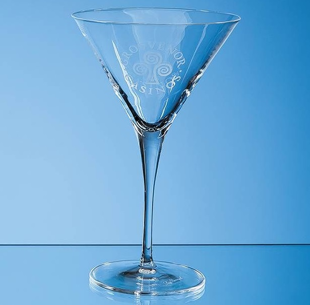 Engraved Allegro Martini Glass