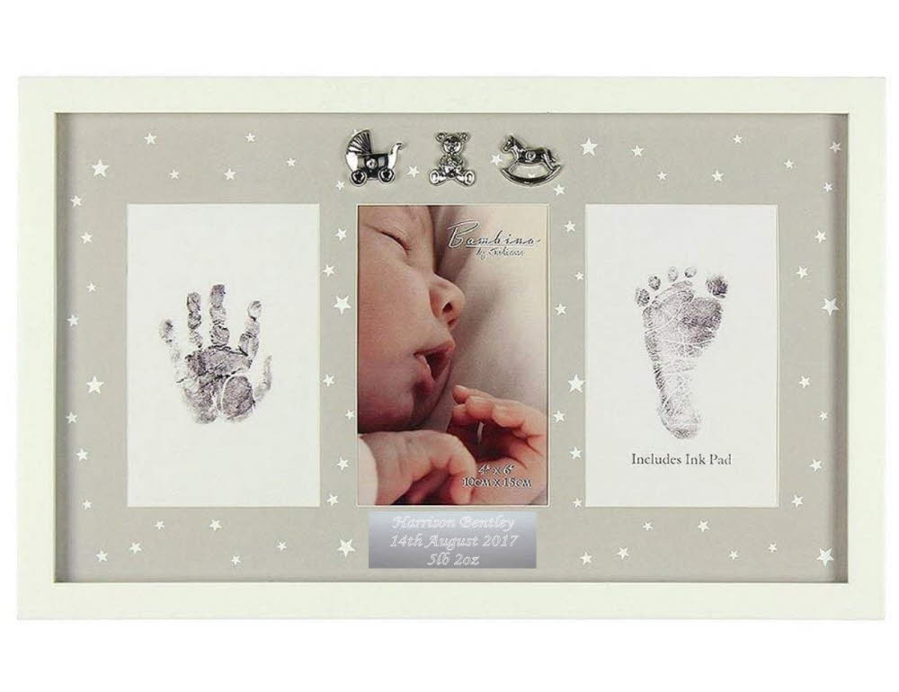 Engraved Hand & Foot Print Photo Frame