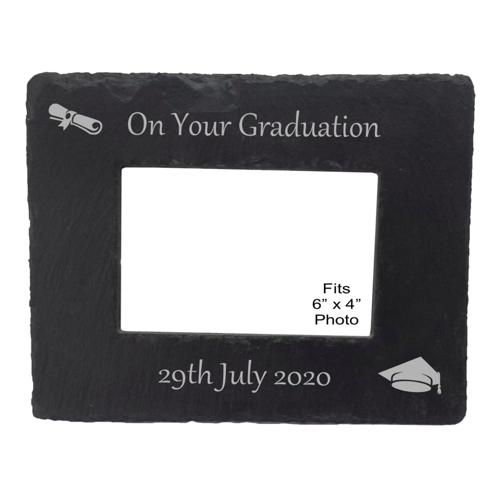Engraved Graduation Slate Photo Frame
