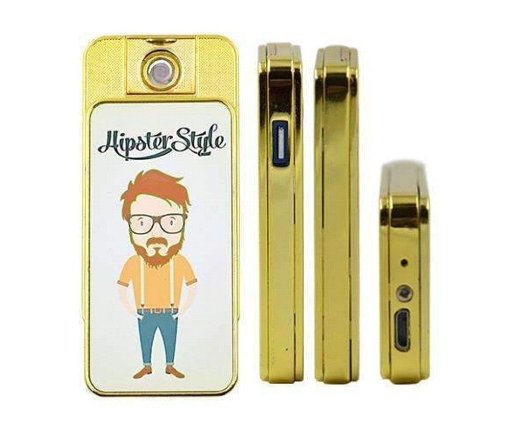 Personalised Gold Electric USB Rechargeable Lighter