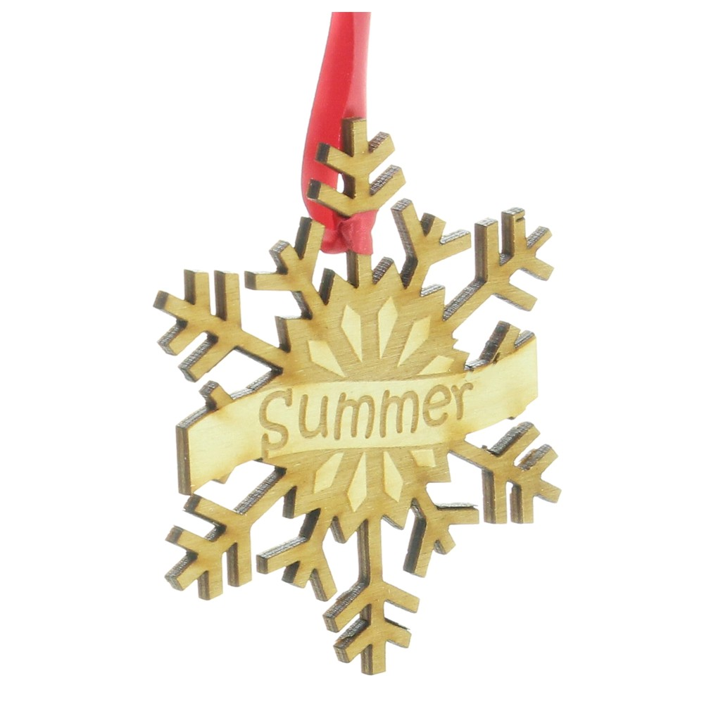Personalised Wooden Snowflake Christmas Tree Decoration