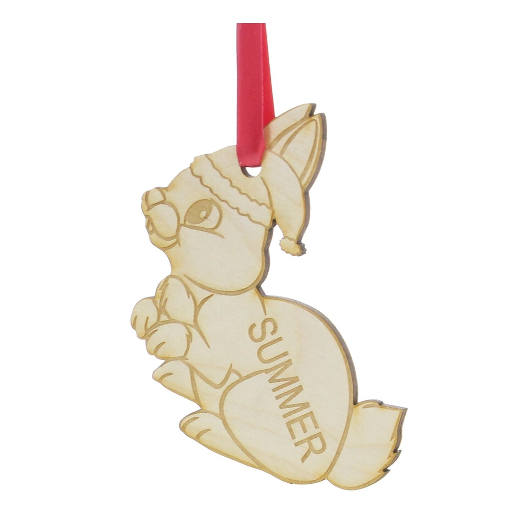 Personalised Wooden Bunny Rabbit Christmas Tree Decoration