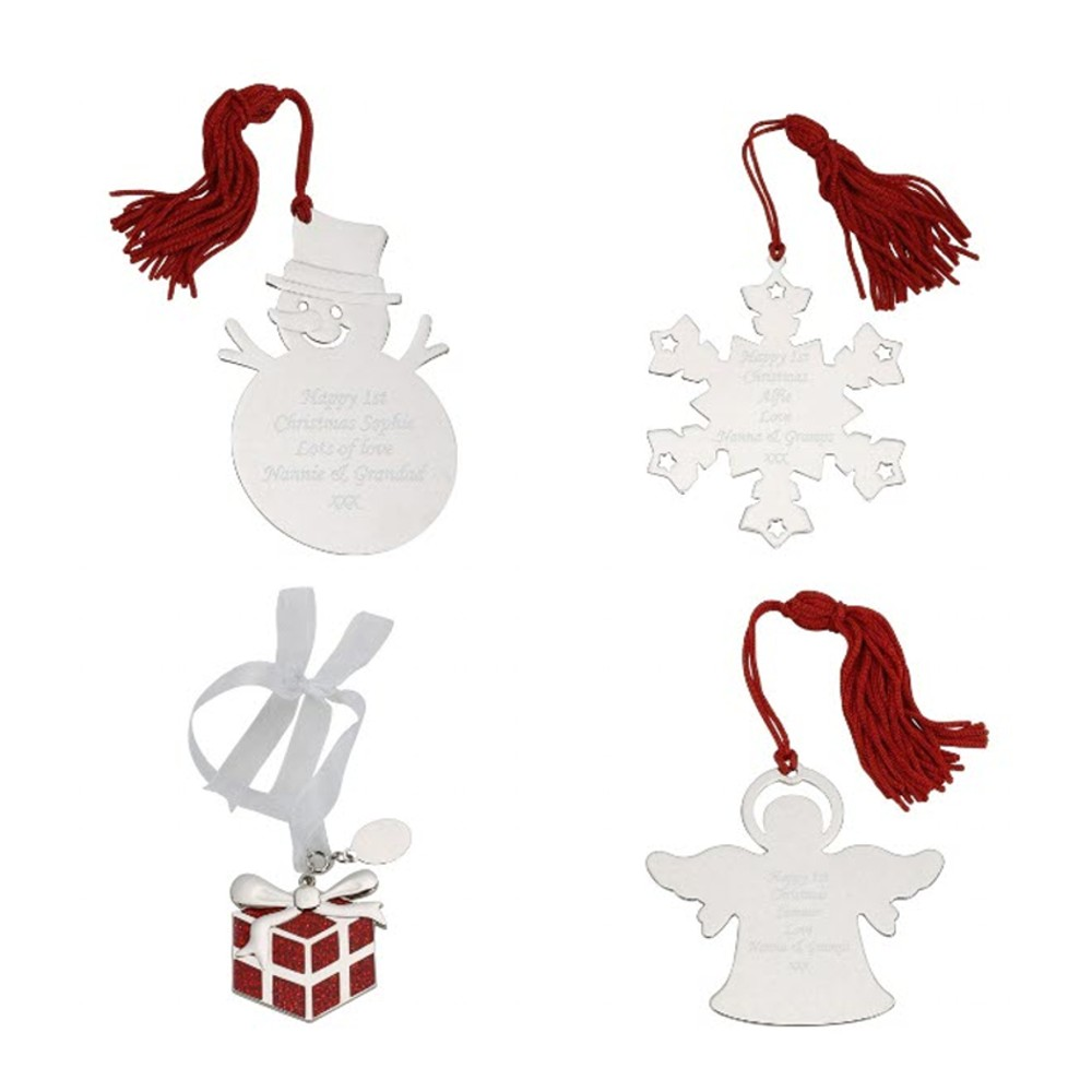 Engraved Personalised Christmas Decorations