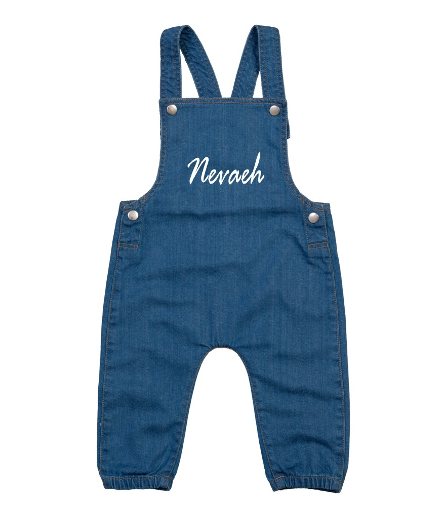 Babybugz Personalised Toddler/Baby Denim Dungarees