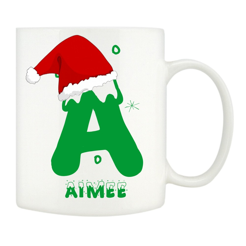 Personalised Christmas Name Mugs