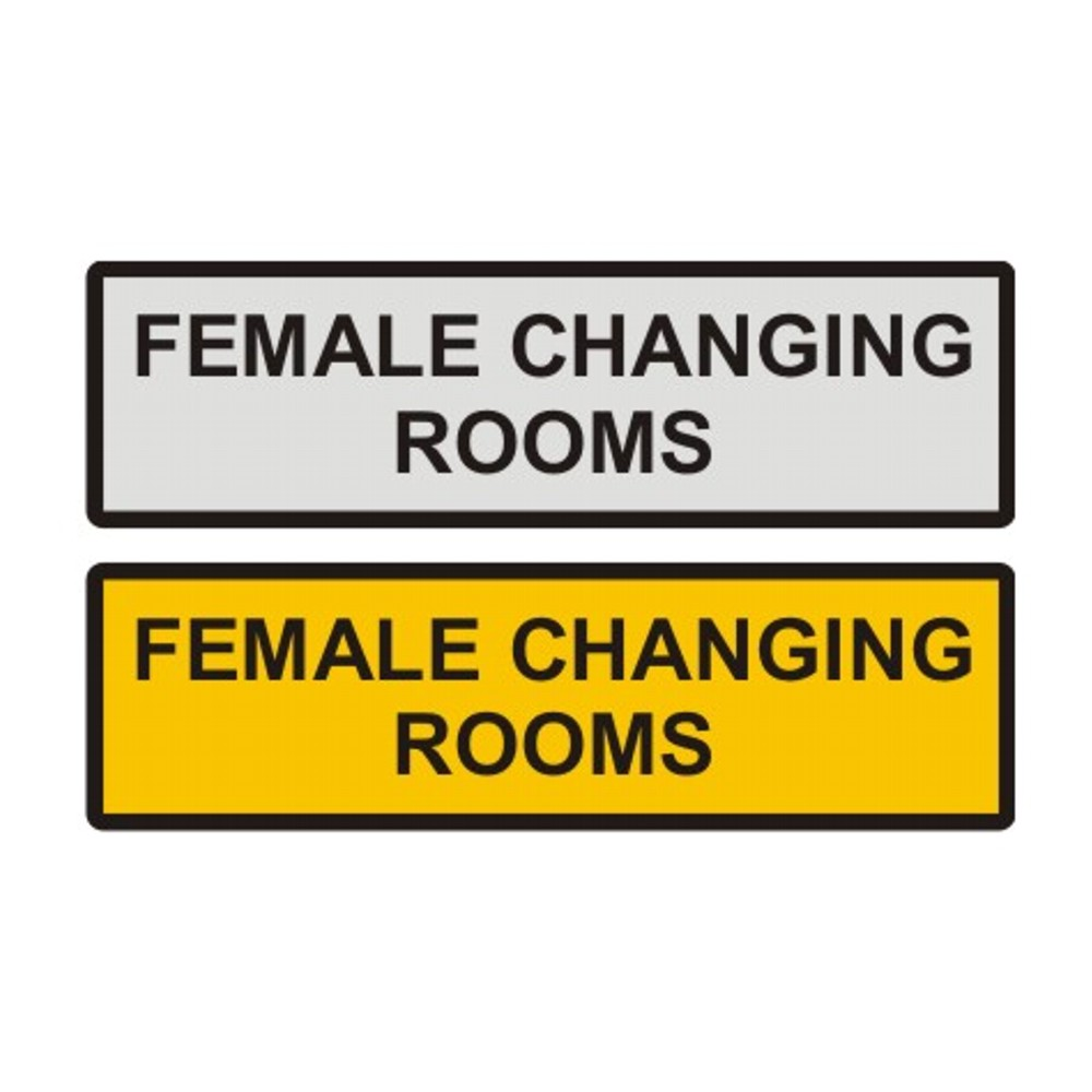 Female Changing Room Door Sign