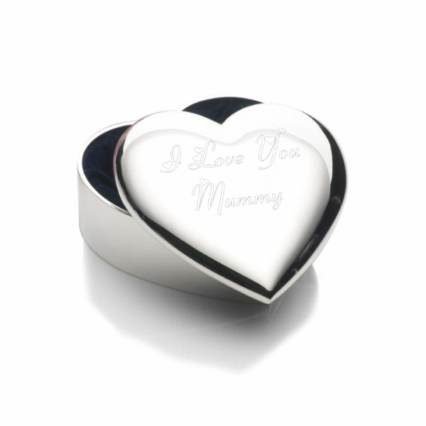 Engraved I Love You Mummy Trinket Box