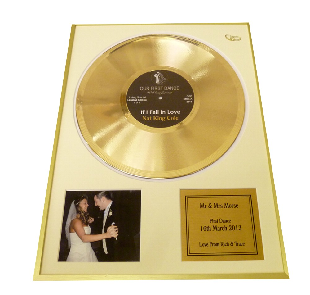 Our First Dance Personalised Disc & Photo