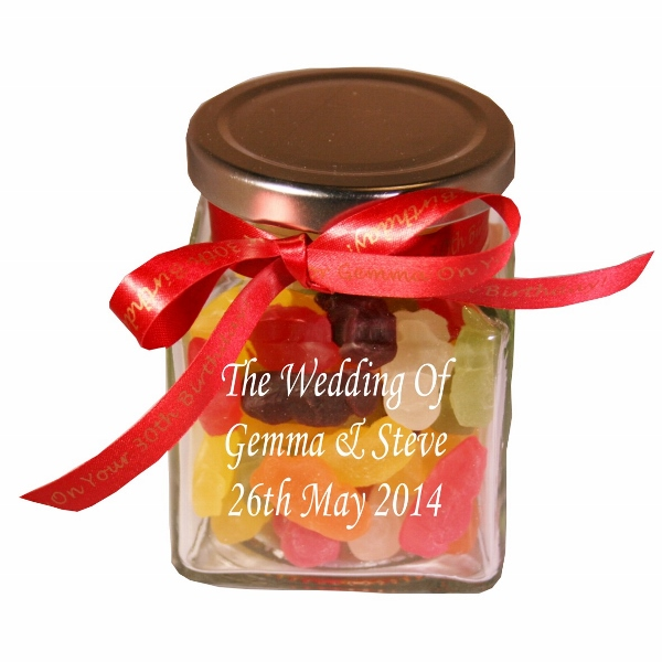 Engraved Haribo Jelly Babies Glass Sweet Jar