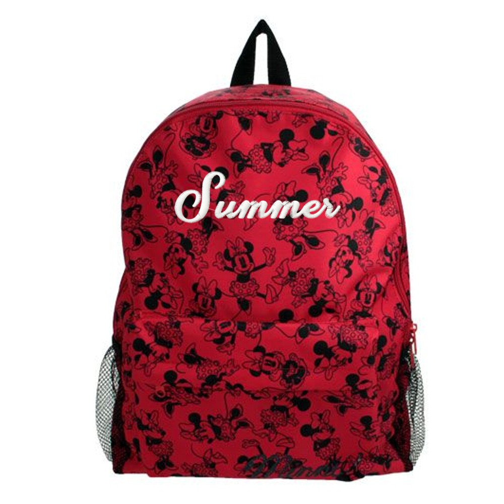 Personalised Disney's Minnie Mouse Backpack