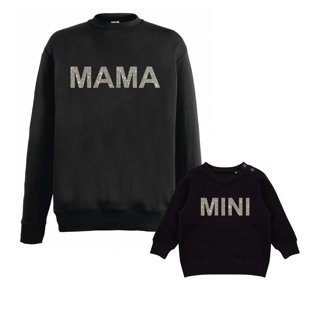 Glitter Print Mama and Mini Jumpers