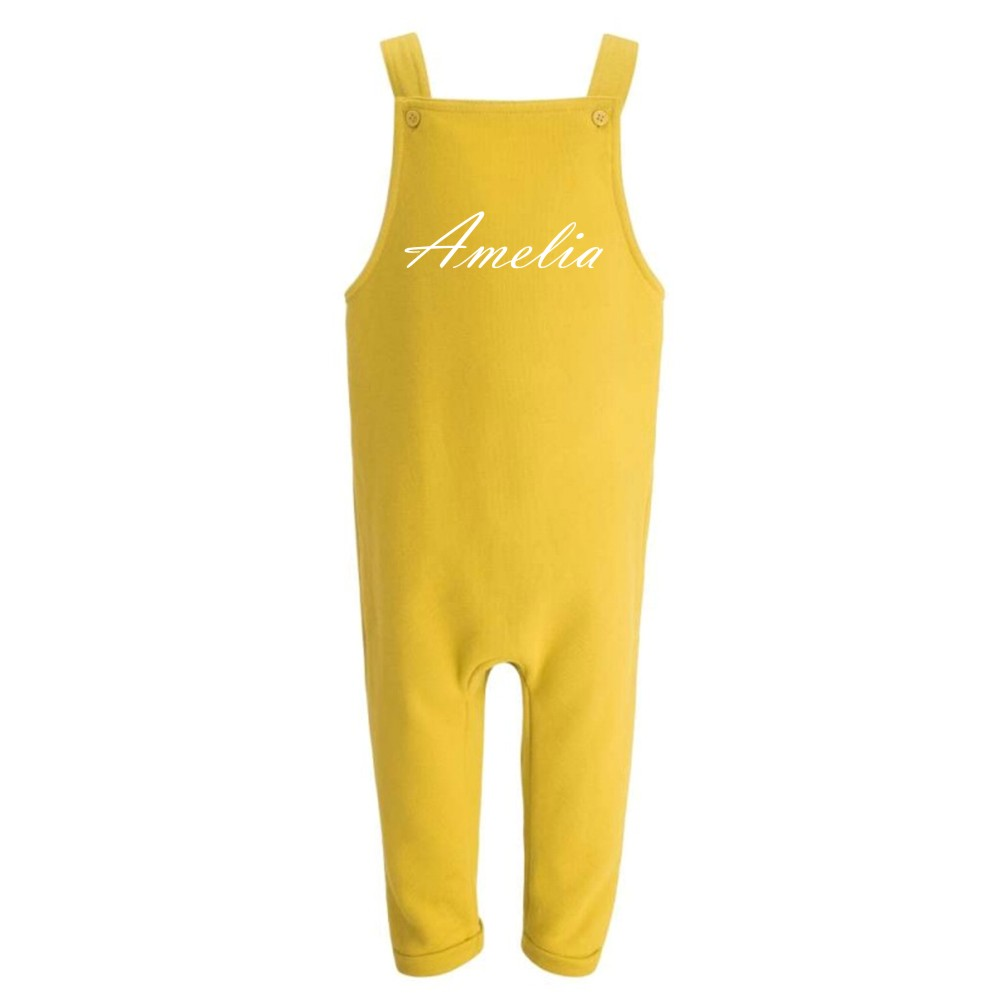 Embroidered Children's Yellow Dungarees